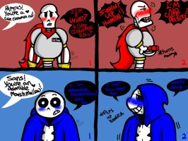 Blushing Boneheads (Undertale) by YaoiLover113