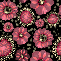 Flower pattern - seamless by pinkcamellia