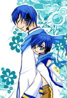 Vocaloid_01 -Kaito and Kaiko- by Clocktowernaga