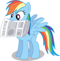 Dashie Newspaper by Chubble-munch