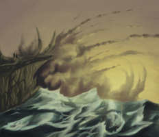 Speedpaint: Waves by mouseymachinations