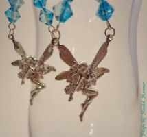 Turquoise Glass Beaded Fairy Earrings by TheSortedBead
