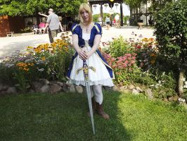 Saber at the Ren Faire by kojika