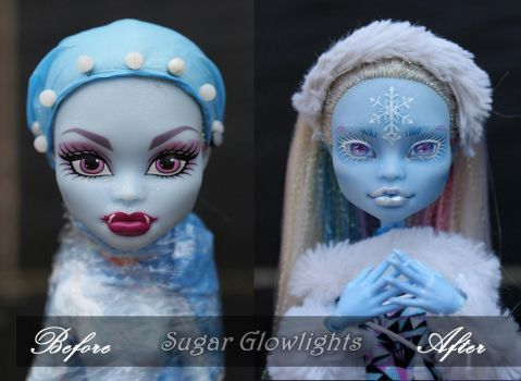 Before/After MH sig Abbey repaint by sugar-glowlights