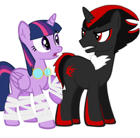 Twilight meets Shadow the Hedgehog by icefir