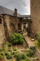 Medieval courtyard by Sockrattes