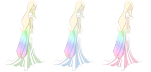 The Lady in rainbow by chibilady17