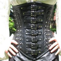 Garment Leather Valerious Underbust Corset by BruteForceStudios