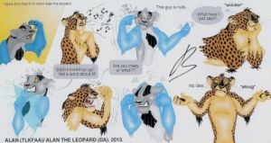 Ingwe and Alan random expressions... by Alan-the-leopard