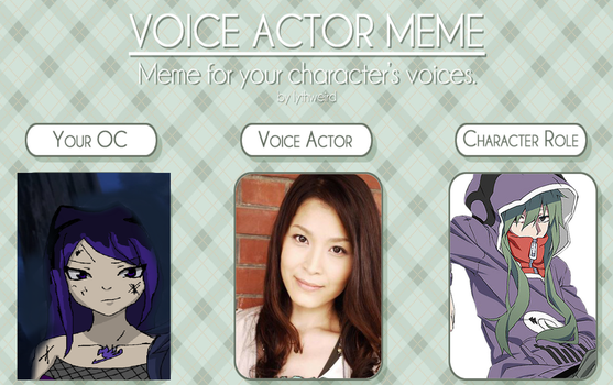 Voice Actor meme (Isoya) by IsoChi