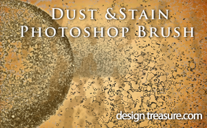 Dust And Stain Photoshop Brush by designtreasure