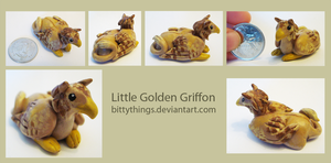 Little Golden Griffin - SOLD by Bittythings