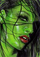 She-Hulk Sketch Card 5 by veripwolf