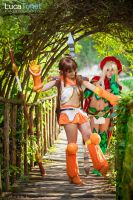Alleyne and Nowa from Queen's Blade by LucaTonet