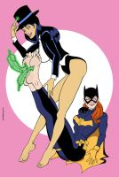 Commission: Batgirl and Zatanna by sandrock74