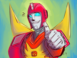 TF G1: Rodimus coloured by Succubii