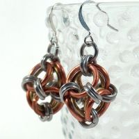Steampunk Polyhedron Earrings by blackbirdmaille