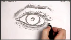 Learn How to Draw a Human Eye 016 by drawingcourse