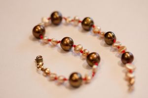 Chocolate Champagne Bracelet by bleedingbird