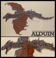 The Elder Scrolls V: Alduin - Wall-Mount by StrayaObscura