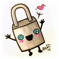 Padlock Baby Loves You! by fairygodpiggy