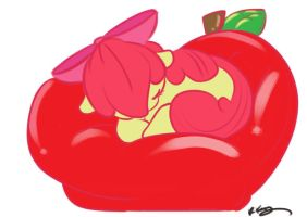 apple bloom sleeps by bunnimation