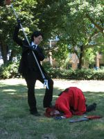 Grell's being incompetent...again: Kumoricon 2014 by fluffpuffgerbil