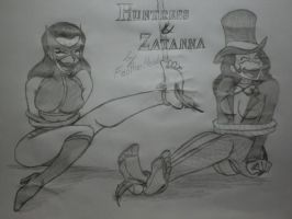 Huntress and Zatanna Tickled by kaasmeisjeNL