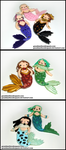 Gem Mermaids by GrandmaThunderpants