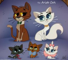 50 Chibis Disney : Aristo Cats by princekido