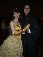 Snape and Belle at the Ball by InuLuverHana89
