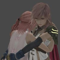 Lightning and Serah Part 2 by frameofreality