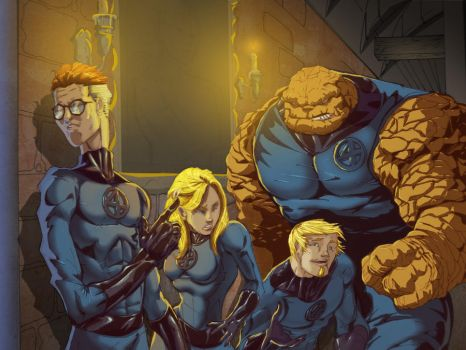 Fantastic 4 colored by spade92