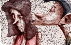 love out scribbles by tsad