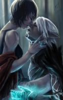 Fenris + Hawke Almost Kisses by Rossilyn
