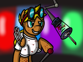 Dewey Working in the Rainbow Factory (Request) by SpinOffJoe