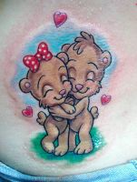 teady bears in love by primitive-art