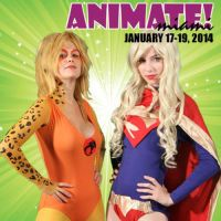Animate: Cheetara and Supergirl by MeganCoffey