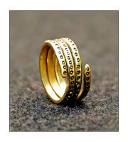 Spiral ring with dot pattern by StuartLohe