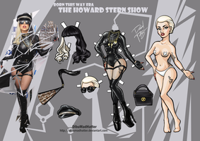 Lady Gaga Paper Doll: Howard Stern Show by DibuMadHatter