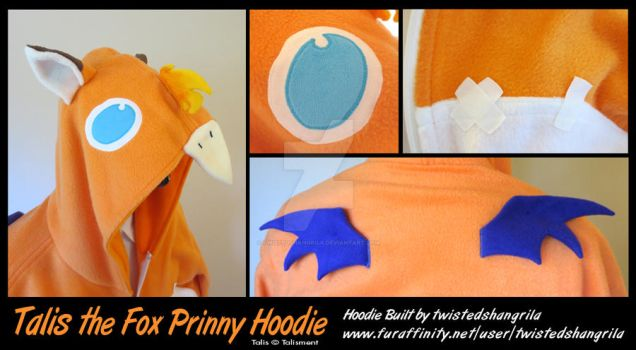 Talis the Fox Prinny - Hoodie Commission details by TwistedShangrila