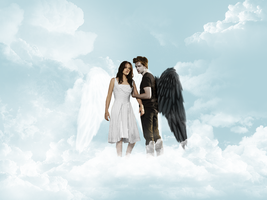 Edward and Bella in Heaven by iNS0MNiA92