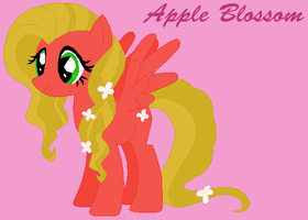 MLP: FiM OC- Apple Blossom by VoltaliatheMajestic