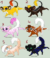 Chibi feline adoptables (OPEN) by Paintlicious