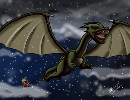 Dragon Christmas by godzilla3092
