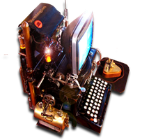 Steampunk Word Processor Icon Microsoft Word MkV by yereverluvinuncleber