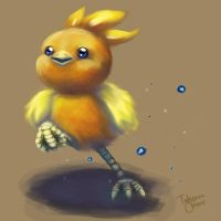 Fluffy Torchic by Kamocha