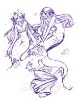 We are mermaides sketch by kitsune-roka
