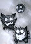 #092 Gastly, #093 Haunter, #094 Gengar by Fallmusic