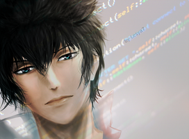 Psycho-pass: Kogami Shinya 3D by Lesya7